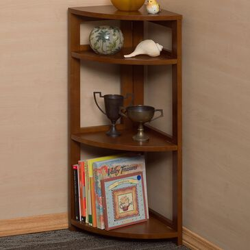 "Regency Global Sourcing Flip Flop 34"" Corner Folding Bookcase in Cherry, , large"