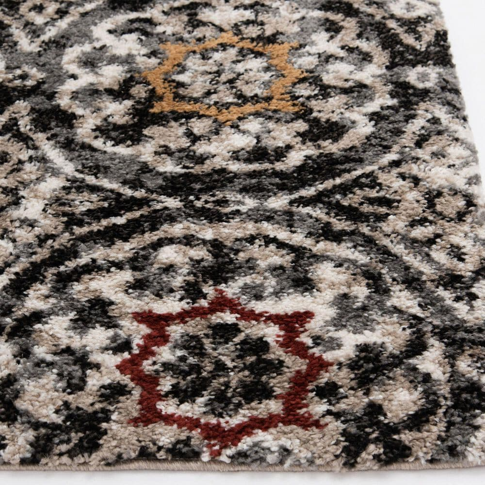 Central Oriental Tulsa Ledyard 9865CHR 8' x 10' Iron and Dark Rust Area Rug, , large