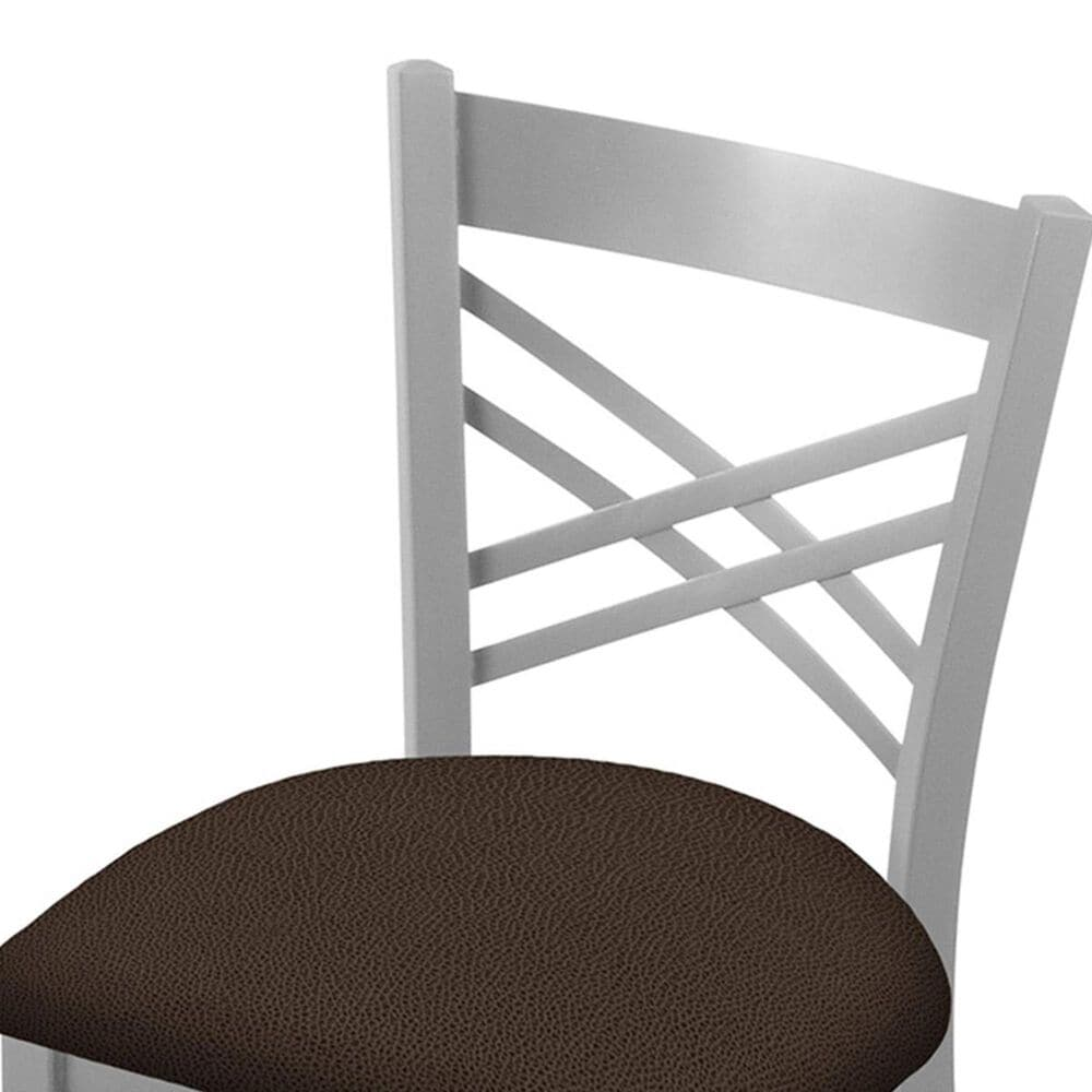 """Holland Bar Stool 620 Catalina 18"""" Chair with Anodized Nickel and Rein Coffee Seat, , large"""