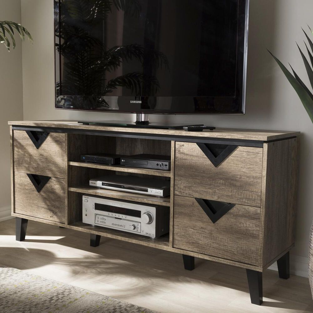 """Baxton Studio Beacon 55"""" TV Stand in Light Brown, , large"""