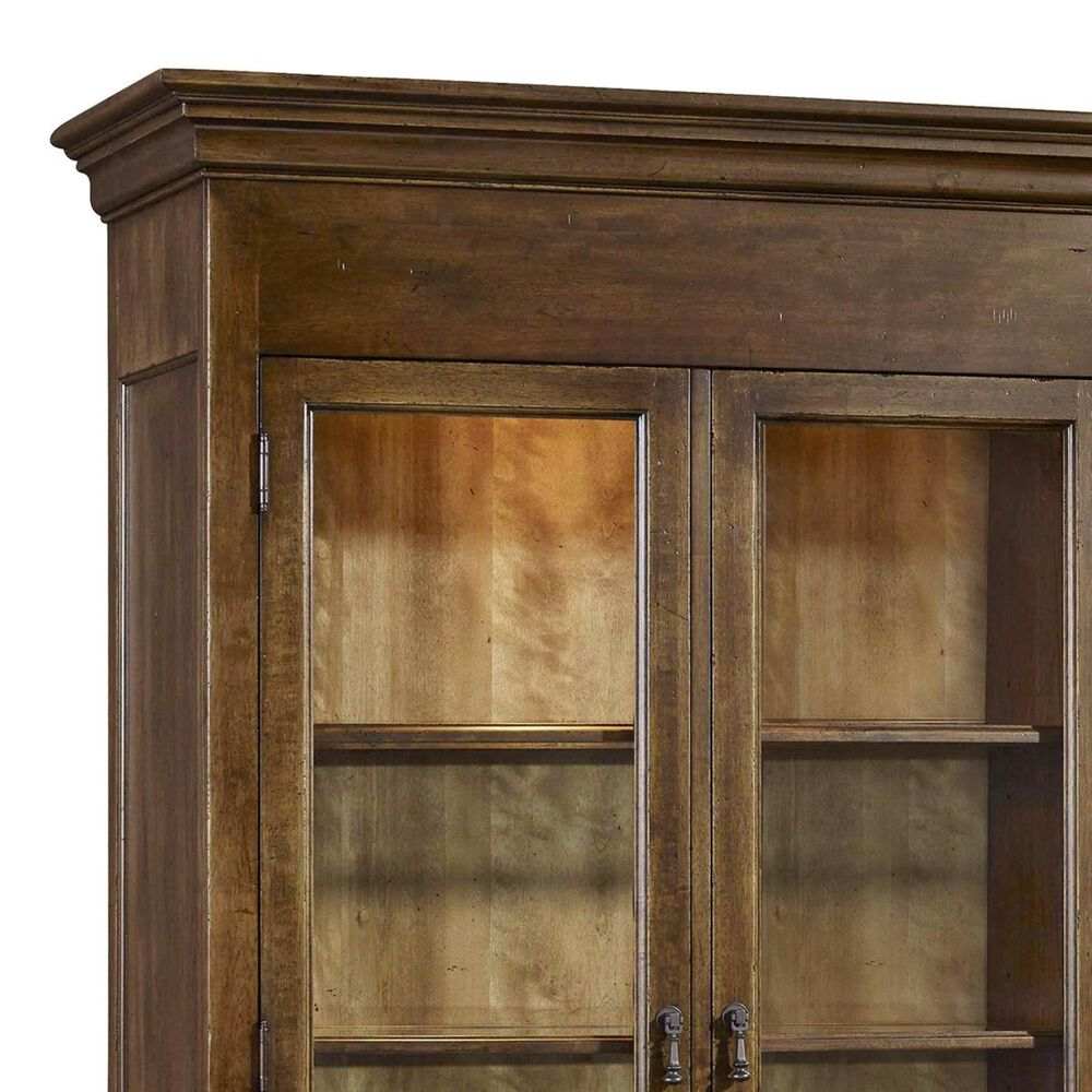 Hooker Furniture Archivist Display Cabinet in Soft Pecan, , large