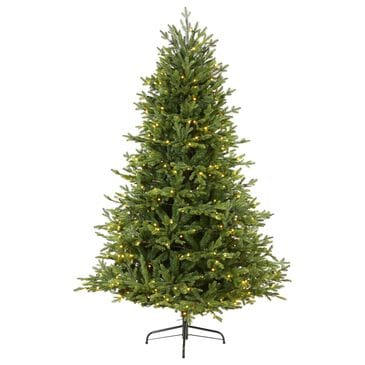 Nearly Natural Inc 6' Wyoming Spruce Artificial Christmas Tree with 400 White LED Lights, , large
