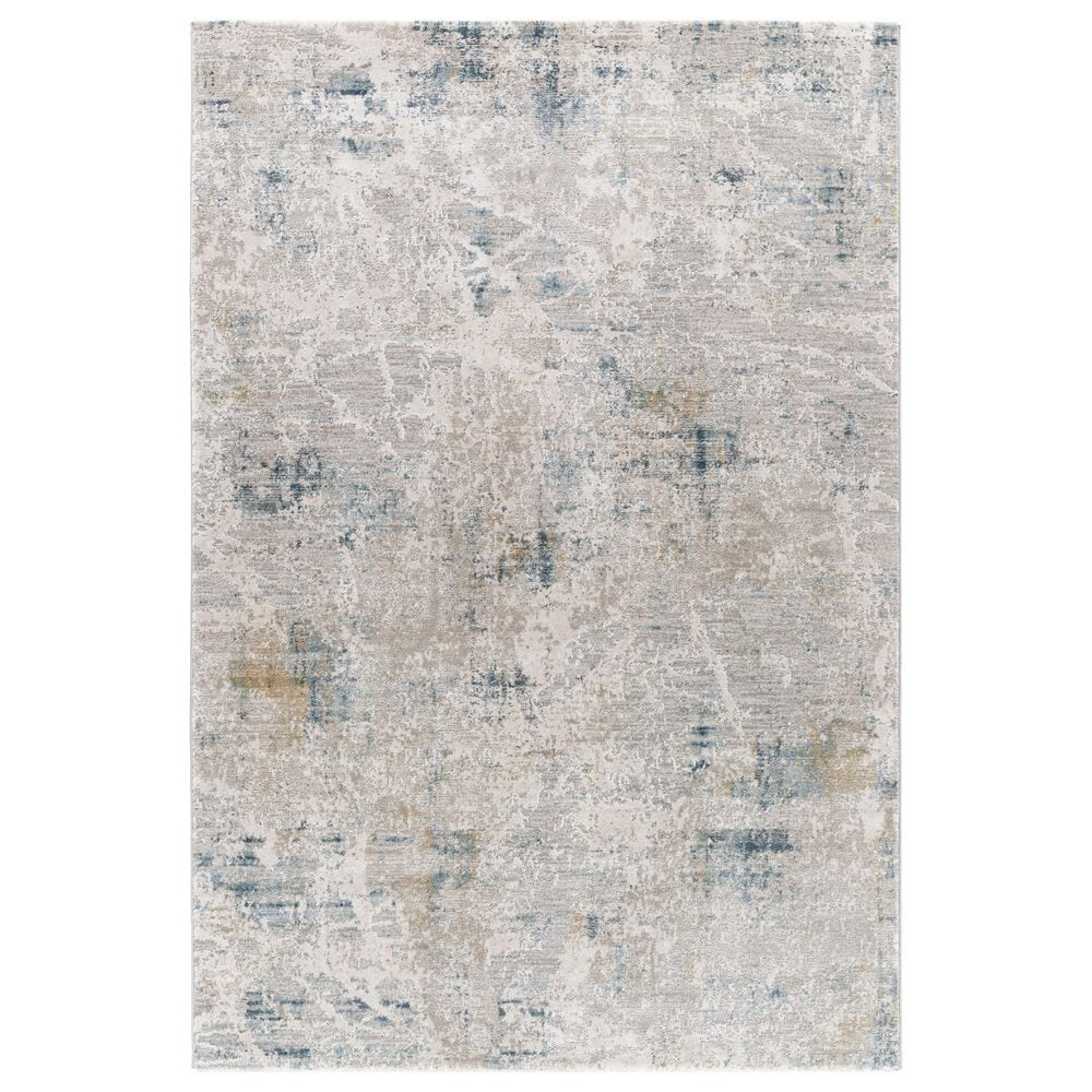 "Surya Brunswick 6'7"" x 9'6"" Blue, Sage, Olive and Gray Area Rug, , large"