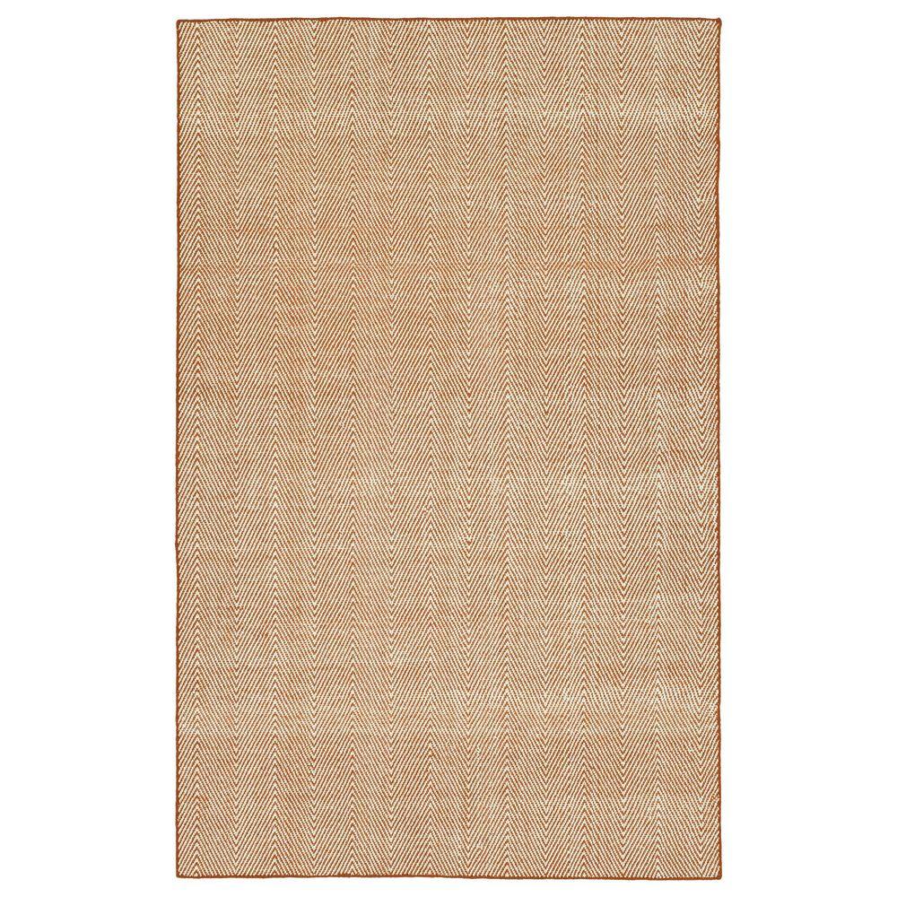 Kaleen Rugs Ziggy ZIG01-89 2' x 3' Orange and White Indoor/Outdoor Area Rug, , large