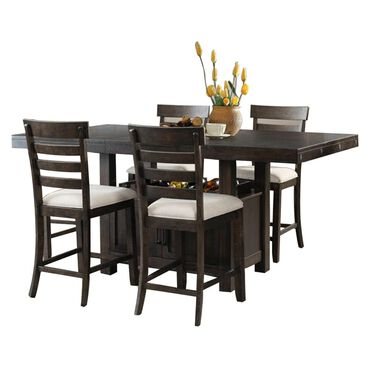 Mayberry Hill Colorado 5-Piece Counter Dining Set in Brown, , large