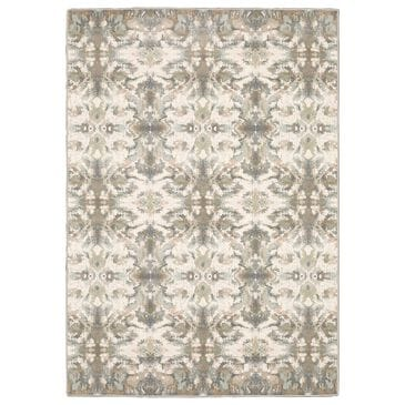 """Orient Express Furniture Capistrano Distressed 535B1 6'7"""" x 9'6"""" Ivory Area Rug, , large"""