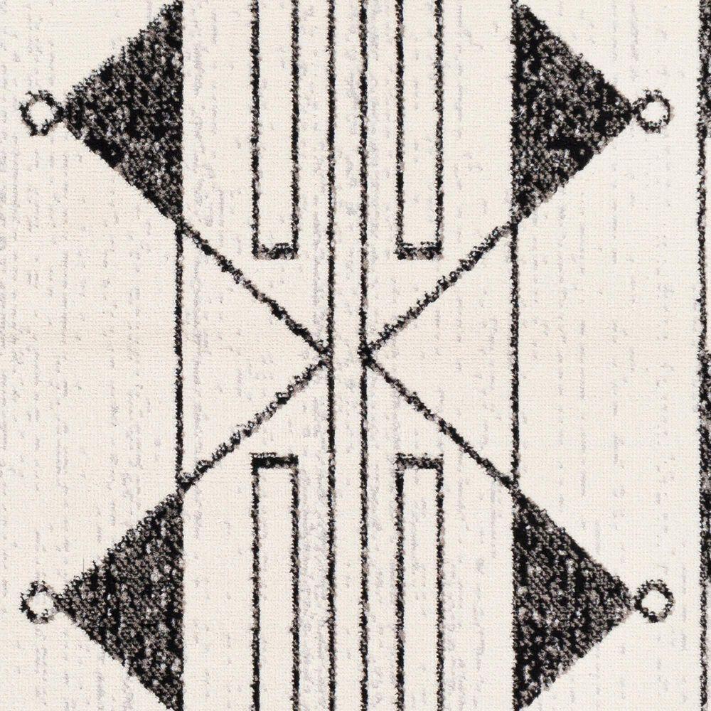 Surya Pisa 5' x 7' Black, Gray and Ivory Area Rug, , large