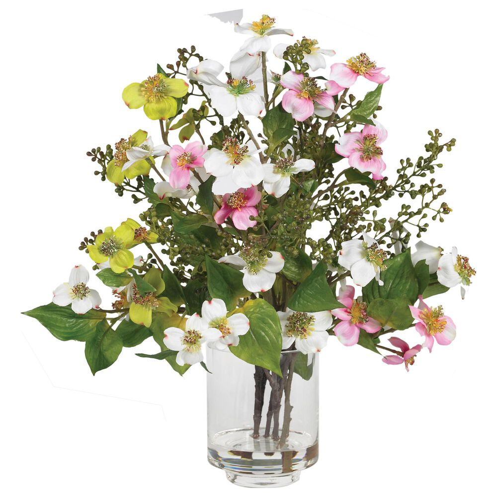 Nearly Natural Inc Dogwood Silk Flower Arrangement, , large