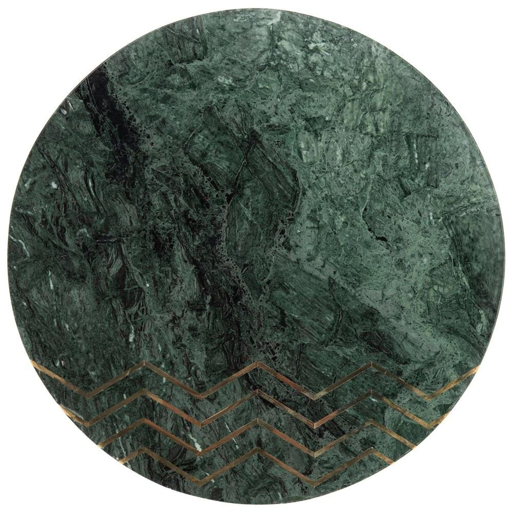 Safavieh Coletta Round Accent Table in Dark Green, Black, and Gold, , large