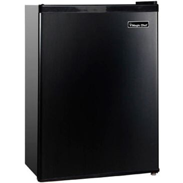 Magic Chef 2.4 Cu. Ft. Mini Refrigerator with Half-Width Freezer Compartment in Black, , large