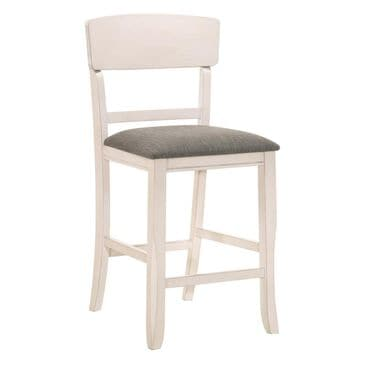 Claremont Conner Side Chair with Chalk Grey Seat in White, , large