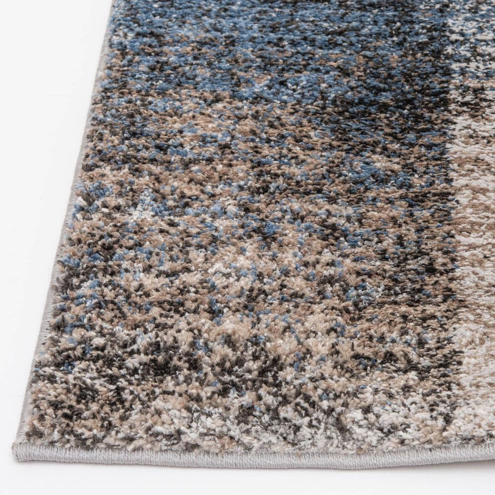 """Central Oriental Structures Torrent Georgia Rain 6226MD 7'6"""" x 9'6"""" Brown and Blue Area Rug, , large"""