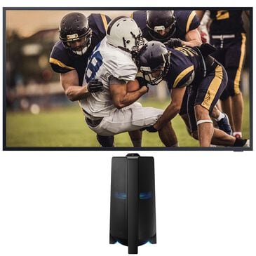 """Samsung 75"""" Class The Terrace Outdoor QLED 4K UHD HDR Smart TV with Sound Tower High Power Audio in Black, , large"""