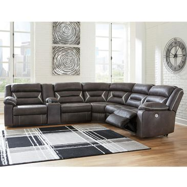 Signature Design by Ashley Kincord 4-Piece Power Reclining Sectional Set in Midnight, , large