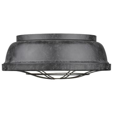 Golden Lighting Bartlett Flush Mount in Black Patina, , large