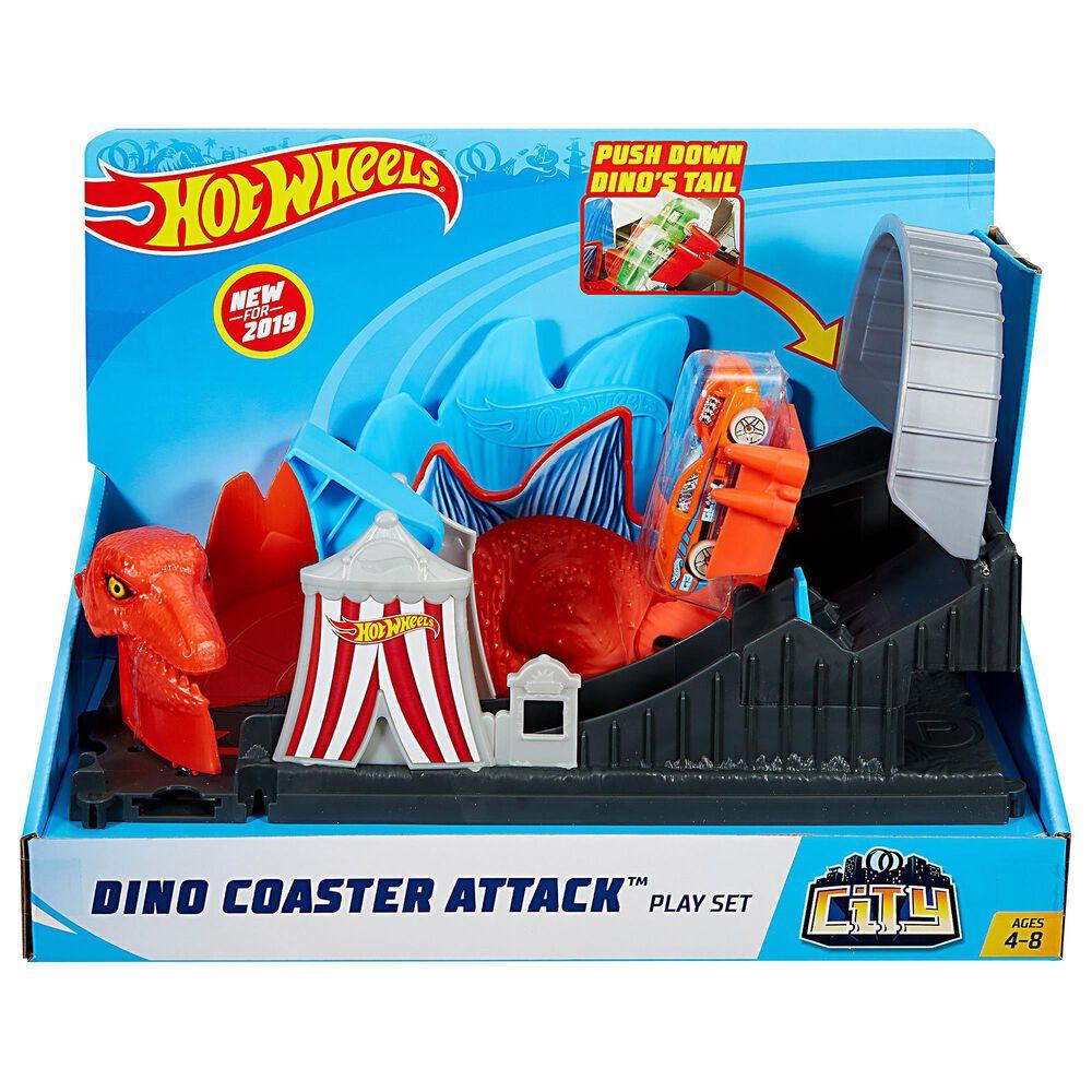 Mattel Hot Wheels City Dino Coaster Attack Playset, , large