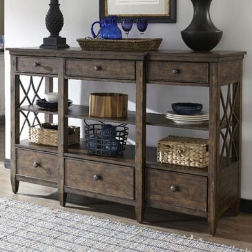 Trisha Yearwood Home Collection Bakersfield Dining Room Server in Coffee, , large