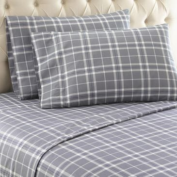 Shavel Home Products Micro Flannel 3-Piece Twin Sheet Set in Carlton Plaid Gray, , large