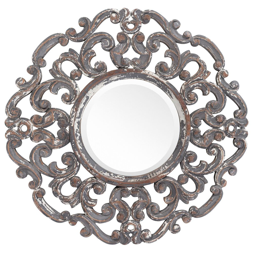 Surya Inc Urvashi Wall Mirror in Antique Gray, , large