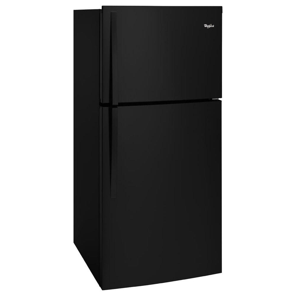Whirlpool 19 Cu. Ft. Top-Freezer Refrigerator with LED Interior Lighting in Black, Black, large