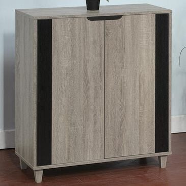 Global Movement Shoe Cabinet in Dark Taupe and Black, , large