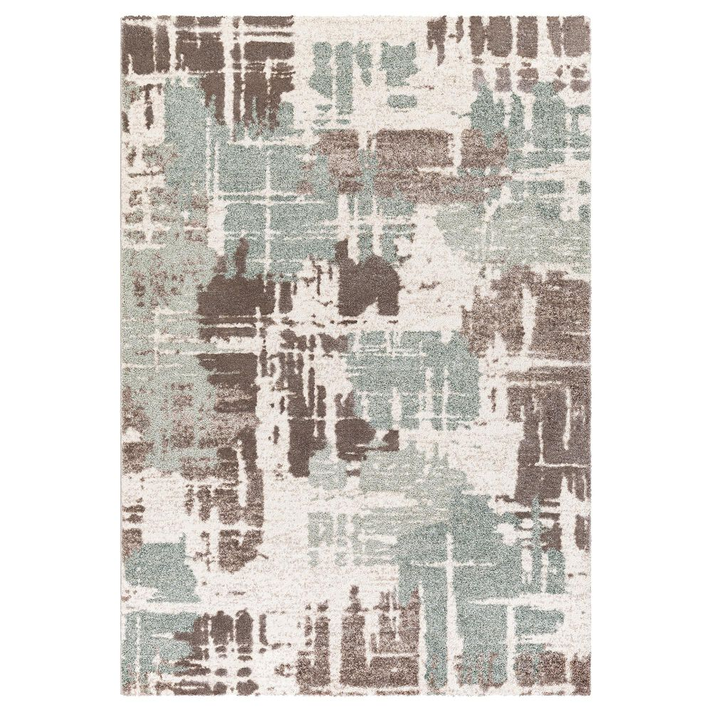 Surya Cielo 9' x 12' Sage, Camel, White and Beige Area Rug, , large