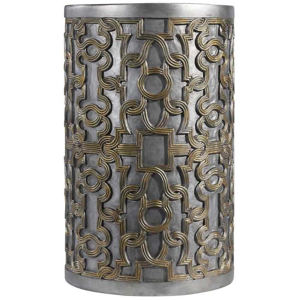 Hooker Furniture Melange Gia Drum Table in Gold, , large