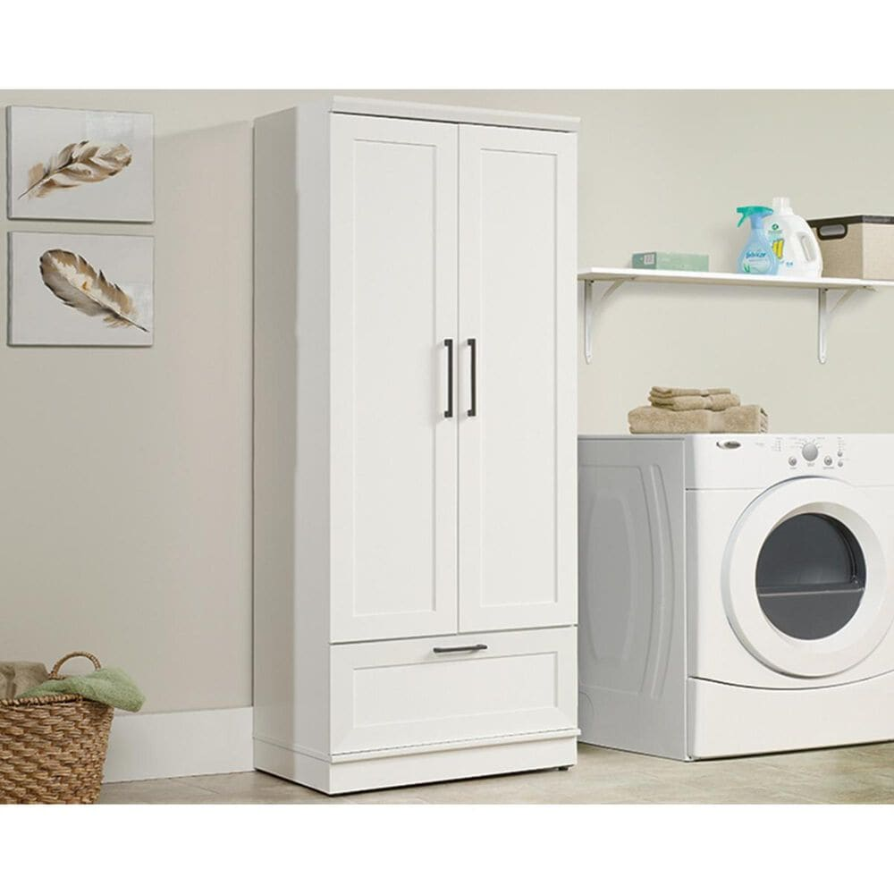 Sauder Homeplus Wardrobe in Soft White, , large