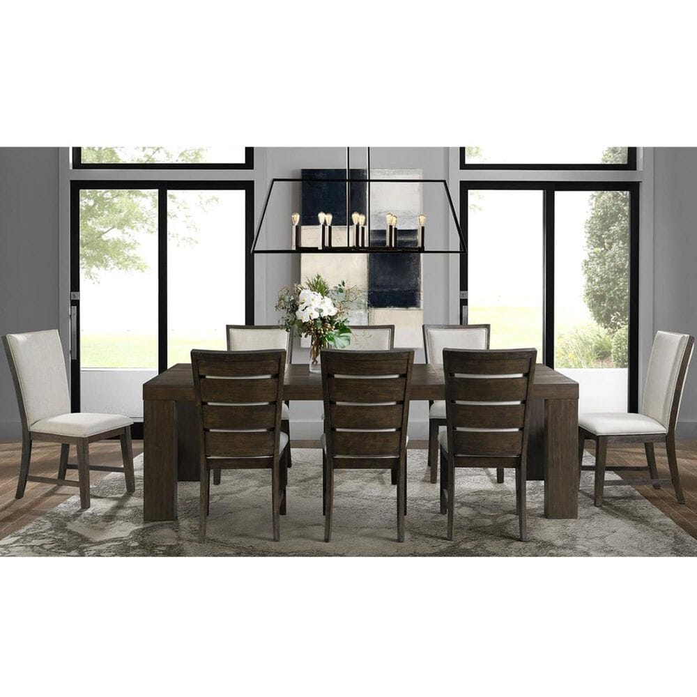 Mayberry Hill Grady 7-Piece Dining Set in Warm Cocoa, , large
