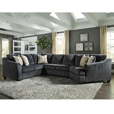 Signature Design by Ashley Eltmann 3-Piece Right Facing Sectional in Slate, , large