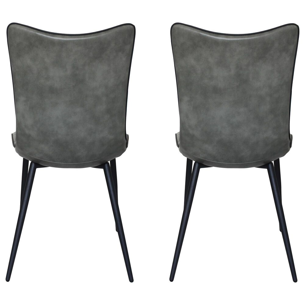Moe's Home Collection Josie Dining Chair in Grey (Set of 2), , large