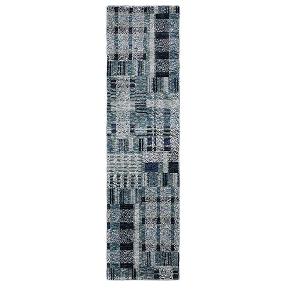 "Oriental Weavers Atlas Geometric 752B0 2""3"" x 8"" Blue Runner , , large"