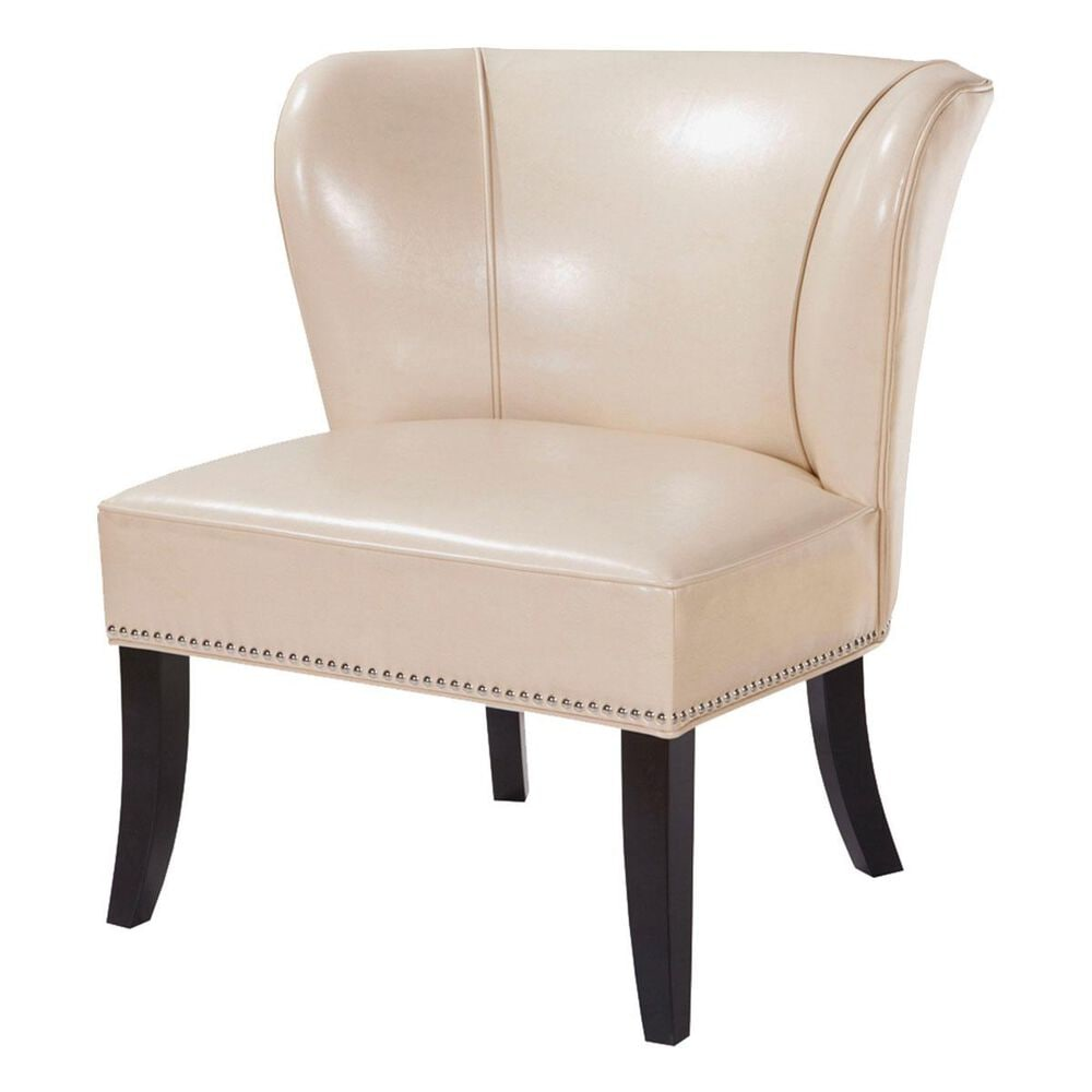 Hampton Park Madison Park Concave Back Armless Chair in Ivory, , large
