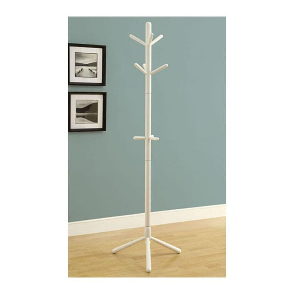 Monarch Specialties Contemporary Coat Rack in White, , large