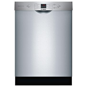 """Bosch 24"""" Built-In Recessed Handle Dishwasher in Stainless Steel, , large"""