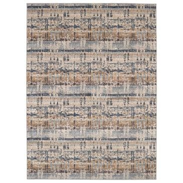 Scott Living Expressions Kaleidoscopic 91675-50128 2' x 3' Denim Scatter Rug, , large