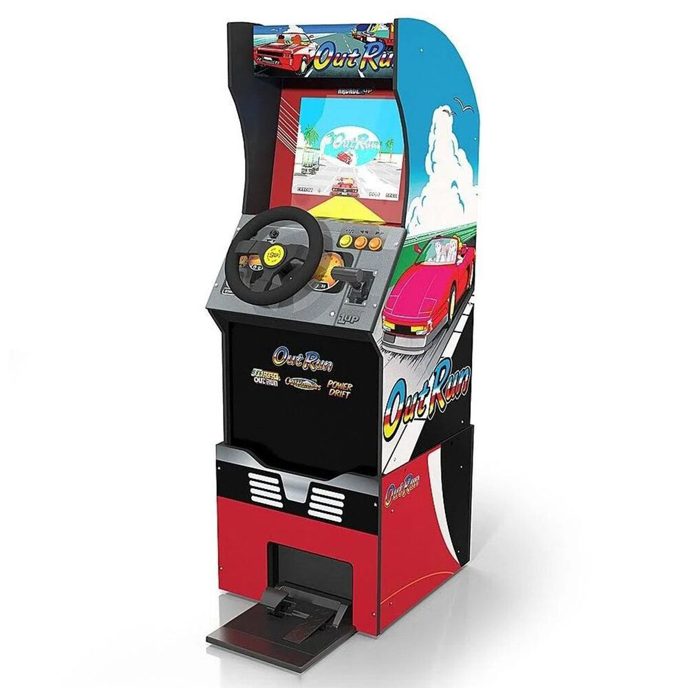 """Arcade1up 4"""" Outrun Standing Arcade Game with Light-up Marquee and Riser, , large"""