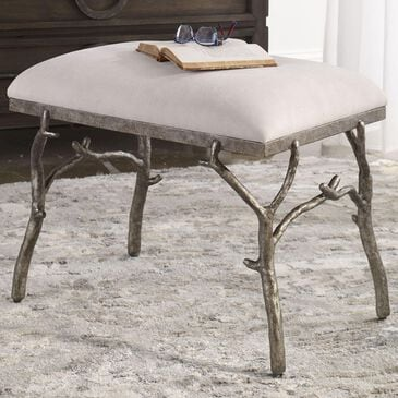 Uttermost Lismore Bench in Antique Silver, , large