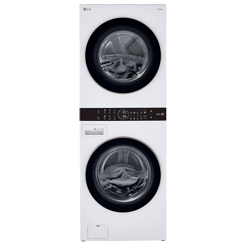 LG WashTower 4.5 Cu. Ft. Washer and 7.4 Cu. Ft. Electric Dryer in White, , large