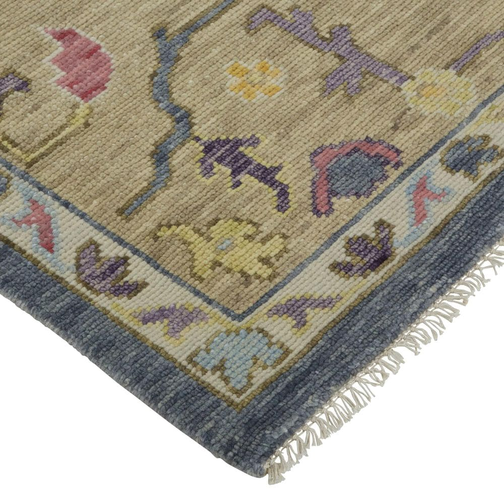 Feizy Rugs Karina 2' x 3' Blue and Beige Area Rug, , large