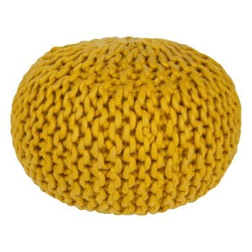 Surya Inc Fargo Sphere Pouf in Yellow, , large
