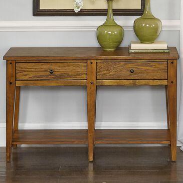 Belle Furnishings Lake House Sofa Table in Medium Brown, , large