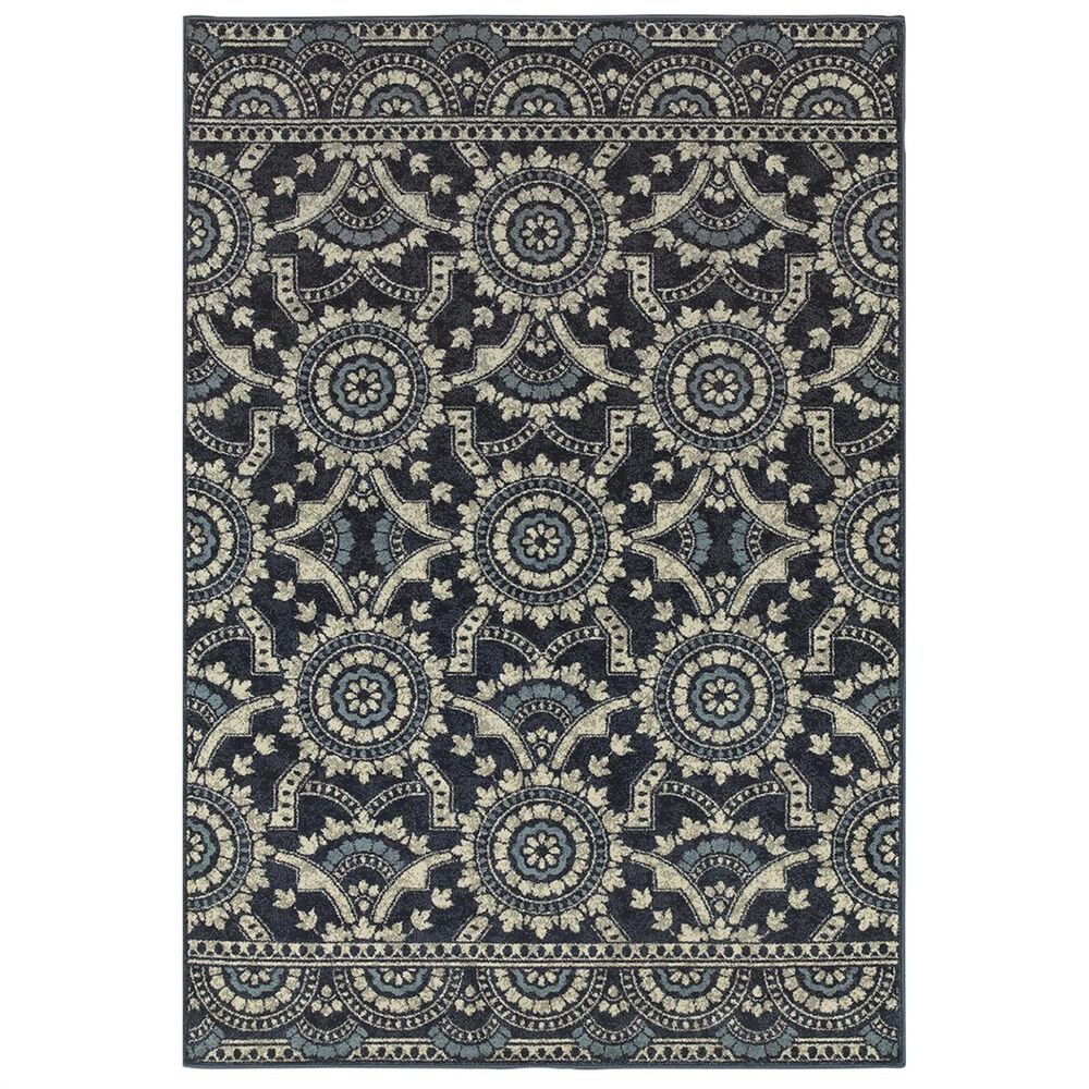 "Oriental Weavers Linden 7842A 6'7"" x 9'6"" Navy Area Rug, , large"