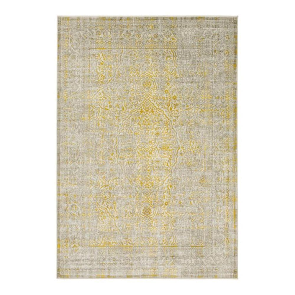 """Surya Jax JAX-5035 5""""2"""" x 7""""6"""" Mustard/Taupe/Ivory Area Rug, , large"""