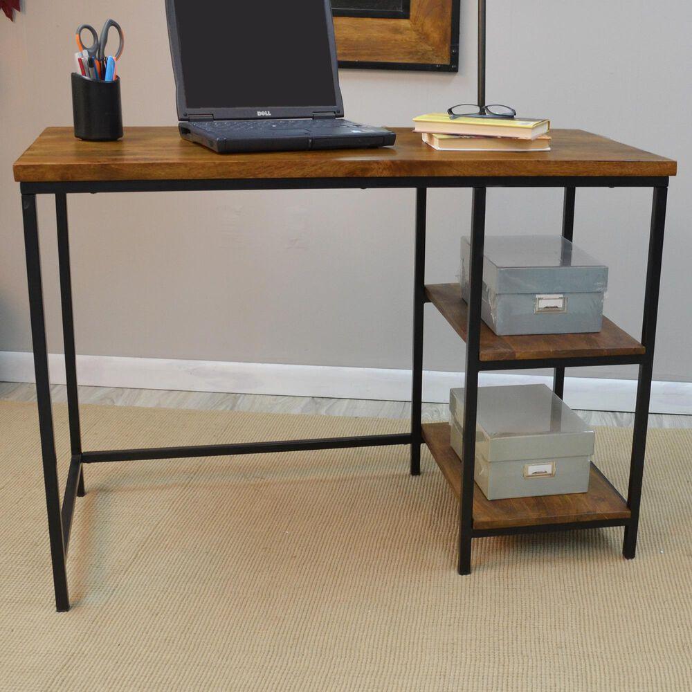 Carolina Chair and Table Brayden Desk in Chestnut/Black, , large