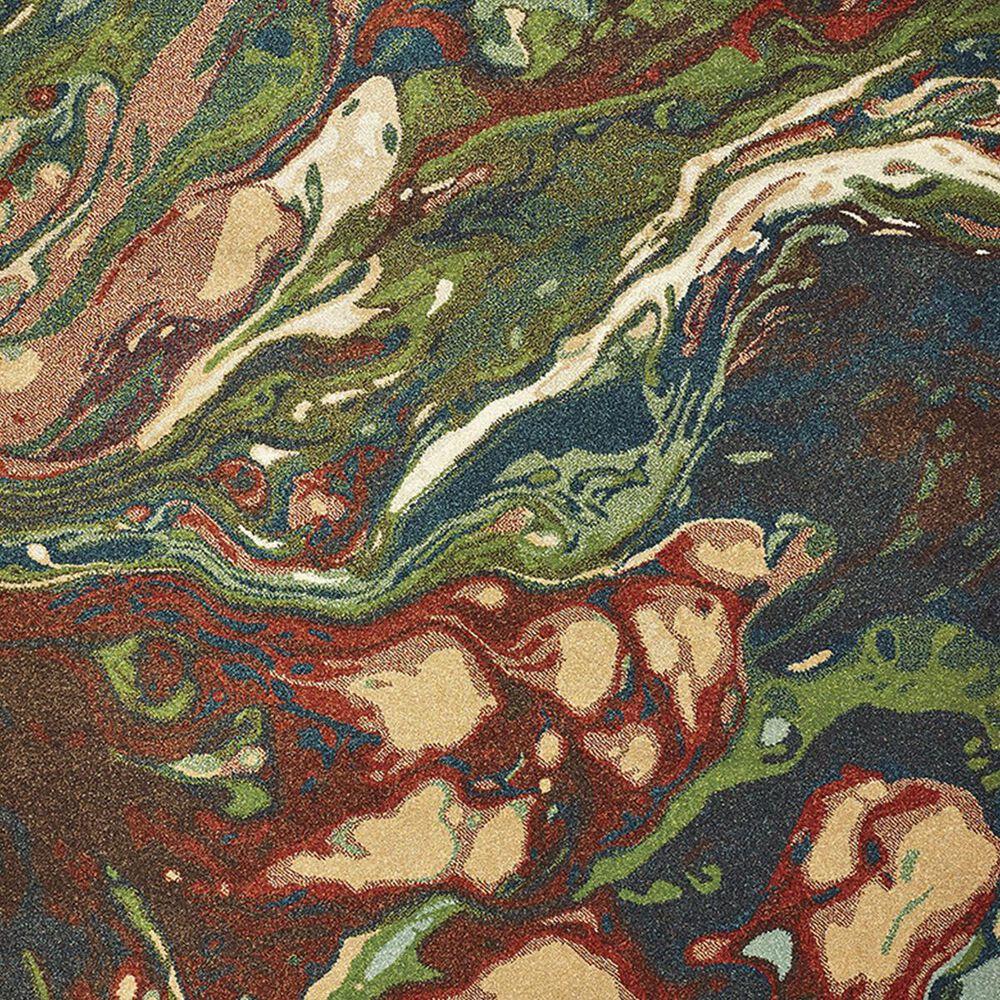 "Oriental Weavers Dawson 8337B 6'7"" x 9'6"" Rust and Teal Area Rug, , large"