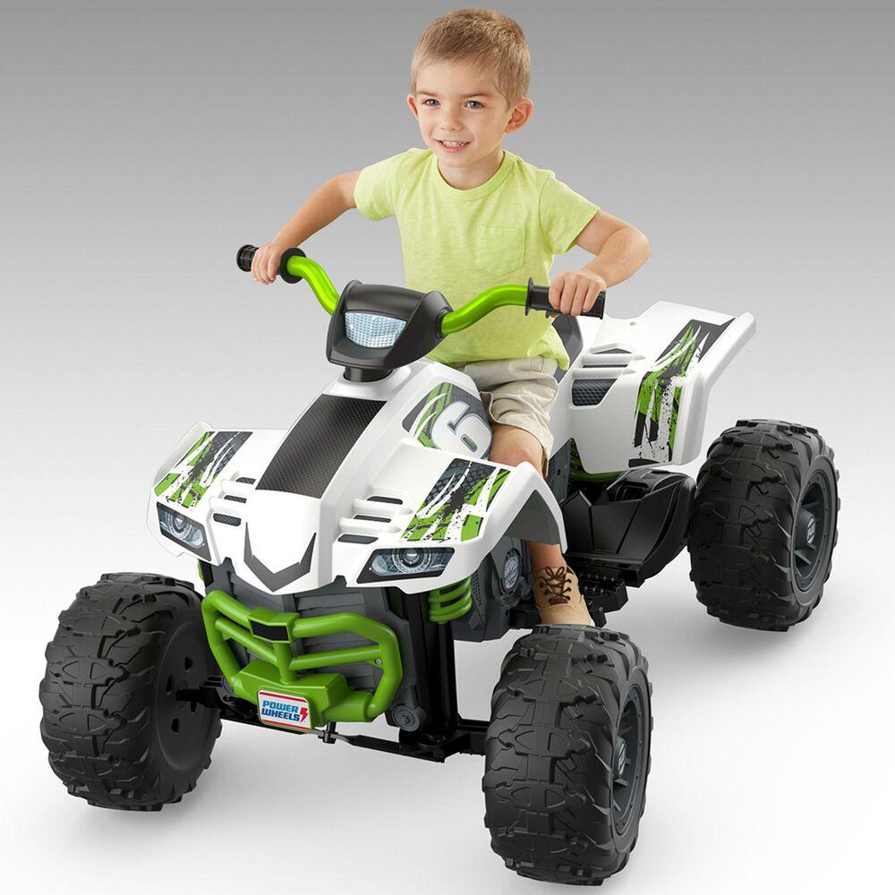 Power Wheels Racing ATV Vehicle in Green, , large