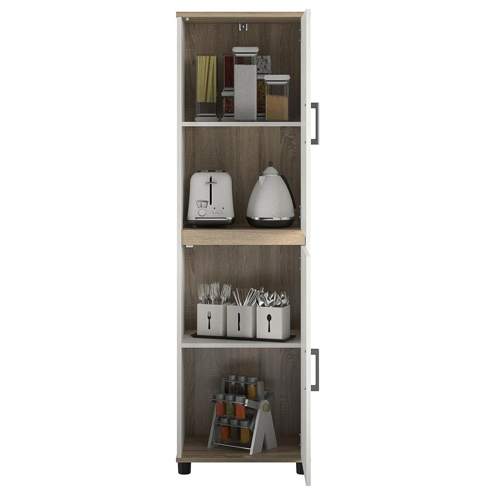 Ameriwood Furniture Mirra 2-Door Kitchen Pantry Cabinet in White, , large