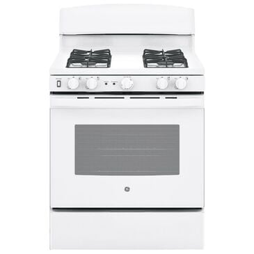 GE Appliances 5.0 Cu. Ft. Freestanding Gas Range in White, , large