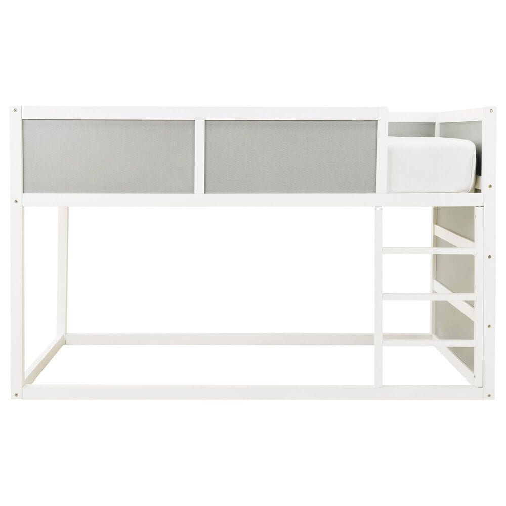 Signature Design by Ashley Romanton Twin Loft Bunkbed in White and Gray, , large